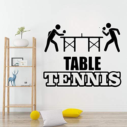 UDPBH Mooie Sport Tafel Tennis Verwijderbare Art Vinyl Muurstickers Voor Baby Kids Kamers Decor Decal muurschildering 43 * 52Cm