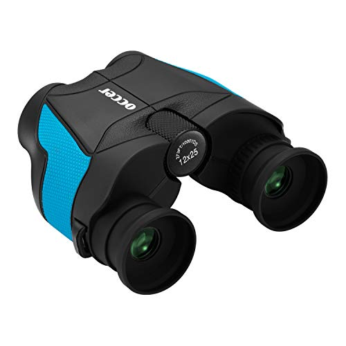 occer 12x25 Binoculars for Adults Compact,Small Folding Binocular for Birding, Football Games,Hunting,Hiking,Wildlife,Waterproof HD Binoculars Travel Spotting Scope with Weak Light Night Vision
