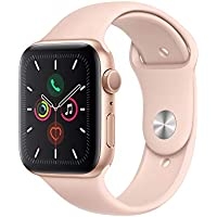 Apple Watch Series 5 (GPS, 44mm) Smartwatch (Gold Aluminum Case with Pink Sport Band)