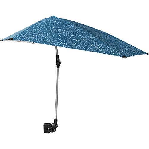 Sport-Brella Versa-Brella SPF 50+ Adjustable Umbrella with Universal Clamp, Regular, Light Blue