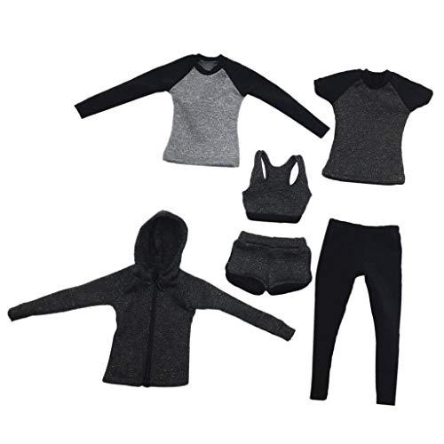 1/6 Dames Hardloopkleding voor 30 Cm Vrouwelijke Actiefiguurlichamen