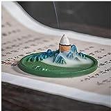 Titolare di incenso QoHG Holder Bruciatore per incenso Bruciatore ceramico Bruciatore decorativo incenso con catcher di cenere staccabile per ornamenti a decorazioni per la casa