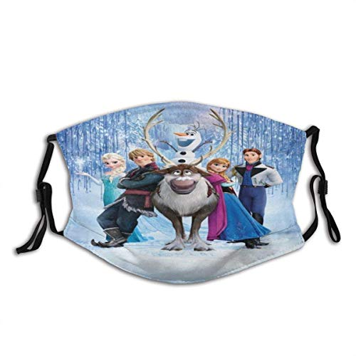 Mundschutz Face Cover Frozen ELSA Reusable Windproof Mouth Cover Camping Motorcycle Running for Teen Men Women
