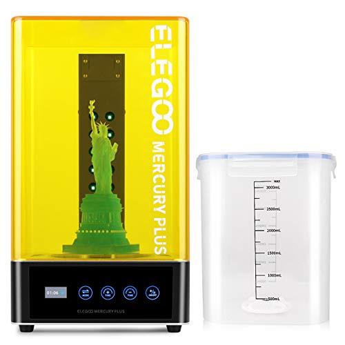 ELEGOO Mercury Plus 2 in 1 Waschen und Aushärten Maschine für Mars Photon S Photon Mono LCD DLP SLA 3D Gedruckt Modelle Harz UV Härtungsbox mit Rotary Aushärten Drehscheibe und Waschen Eimer