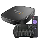 Android TV Box 10.0 4GB 32GB Decodificador Smart TV Box H616 USB 2.0 1080P Ultra HD 4K 6K HDR WiFi 2.4G 5.8GHz BT 5.0 Reproductor Multimedia de Transmisión con Mini Teclado Inalámbrico Retroiluminado