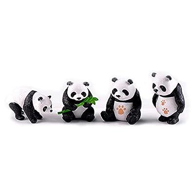 zrshygs Jardin Décor À La Maison Miniature Résine Pandas Mini Jardin Plante Fleurs Pot Bonsaï Dollhouse Décoration
