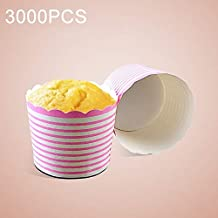 AYSMG 3000 PCS Round Lamination Cake Cup Muffin Cases Chocolate Cupcake Liner Baking Cup, Size: 7 x 6 x 5.5cm ALISUONG