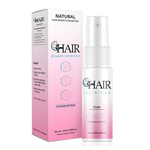 Hair Remover,Spray de Depilación,Hidratante Reparación Spray de depilación,Unisex Spray inhibidor del Cabello para Detener el Crecimiento del Cabello,Depilatoria Facial,Bikini,Antebrazo