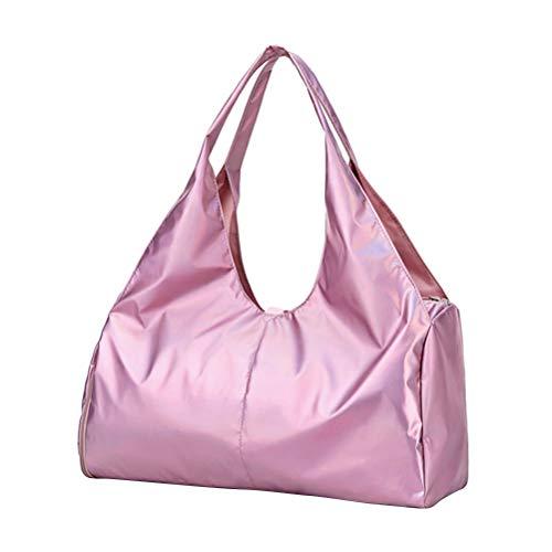 Fenical Sport Duffle Bag holographische Reisetasche wasserdichte handgefertigte Yoga-Tasche mit schuhfach - pink