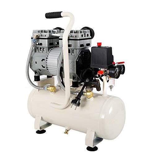 Compresor de aire silencioso, sin aceite, caldera, compresor silencioso, depósito de presión, 15 L/30 L/35 L (15 L 980 W)