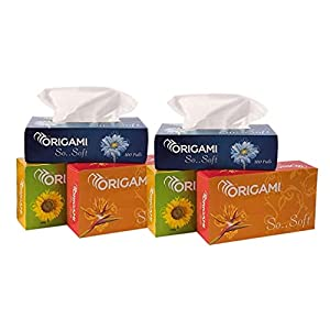 Origami So Soft 2 Ply Face Tissue Box - 100 pulls (200 Sheets) per Box - Pack of 6 Boxes - Total 600 pulls