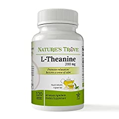 L-Theanine 200mg promotes relaxation without drowsiness. Also Restores a sense of calm. Found naturally in green tea Natural Ingredients - Good Health from the Source! Made in the USA - GMP NSF Certified Facility - Kosher Certified ►► To SAVE EVEN MO...