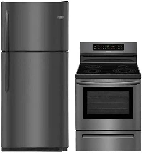 Frigidaire 2 Piece Kitchen Appliance Package with FGTR2037TD 30 Top Freezer Refrigerator and product image