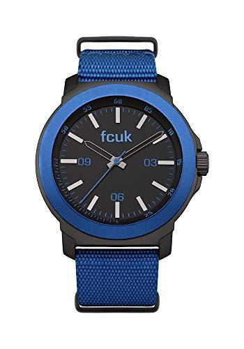 French Connection Herren Analog Quarz Uhr mit Nylon Armband FC1148U