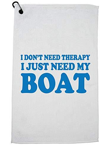 Hollywood-draad ik heb geen therapie nodig ik heb gewoon mijn boot Hilarische golfhanddoek met karabijnhaak clip nodig