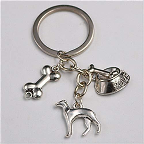 Antieke Zilver Huisdier Hond Hanger Been Hanger Hond Voedsel Bowl Hanger Diy Creatieve Metalen Legering Sleutelhanger