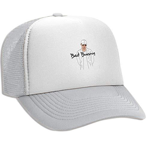 Gorra Hombre Béisbol Retro Snapback Unisex Adult Trucker Hat Bad&Bunny Adjustable Mesh Cap Lightweight Breathable Soft Baseball Cap