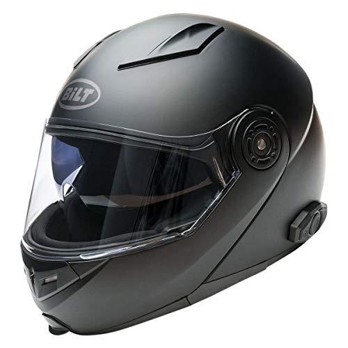 Bilt Techno 2.0 Sena Men's Bluetooth Modular Helmet, Matte Black, 2XL