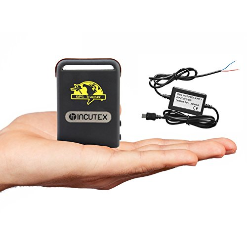 Incutex GPS Tracker TK104 Peilsender Personen und Fahrzeugortung GPS Sender mit KFZ-Ladekabel Autoladekabel Version 2019