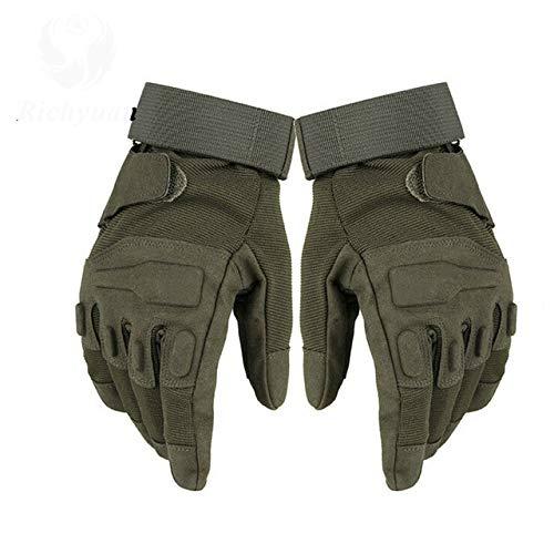 IMmps Handschuhe Outdoor Sports Vollfinger Motorrad Skidproof Carbon Turtle Shell Handschuhe-T1134full grün-L