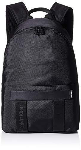 Calvin Klein NASTRO Logo Backpack, Mochilas para Hombre, Negro, OS