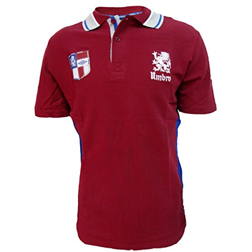 Umbro Polo Uomo Mezza Manica in Cotone piquè Art. P104S (Bordeaux, XL)