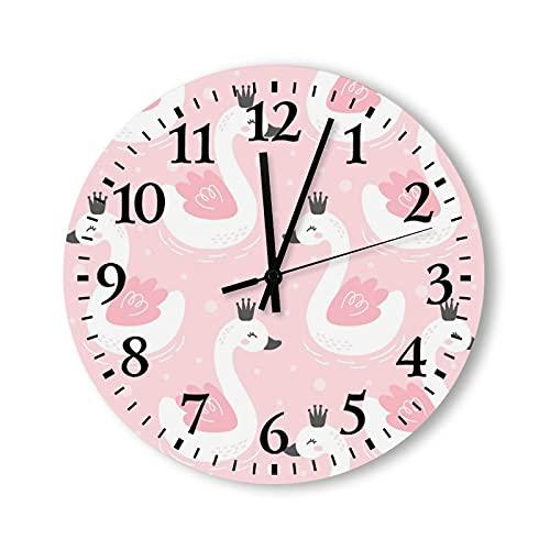 Reloj de pared de madera de 15 pulgadas, funciona con pilas, con corona, reloj de pared de madera, silencioso, no hace tictac, para niños, cocina, oficina, sala de estar, decoración