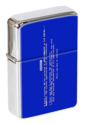 Azul Pantalla de la Muerte Mechero con Tapa
