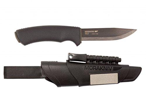 MORA OF SWEDEN Couteau dextérieur Bushcraft Survival 11742 avec Allume-feu, avec Pierre à aiguiser, avec Boucle de Ceint