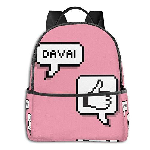 Davai! - Mochila escolar escolar para estudiantes