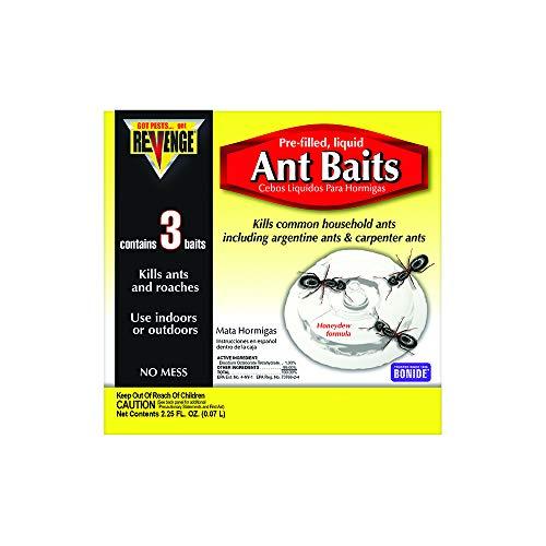 Bonide (BND45100) - Revenge Pre-filled Liquid Ant Bait Stations, Ant Killer (3 Pack)