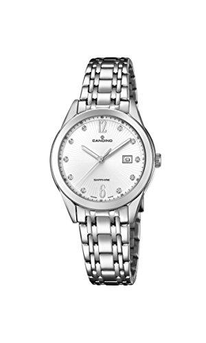 Candino Damen Datum klassisch Quarz Uhr mit Edelstahl Armband C4615/2