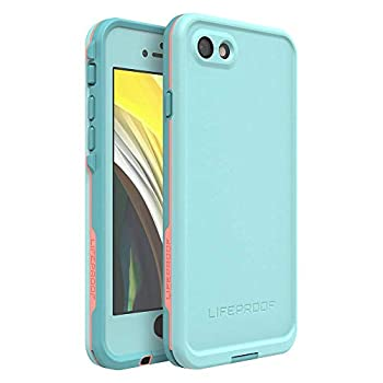 LIFEPROOF FRĒ SERIES Waterproof Case for iPhone SE  2nd gen - 2020  and iPhone 8/7  NOT PLUS  - Retail Packaging - WIPEOUT  BLUE TINT/FUSION CORAL/MANDALAY BAY