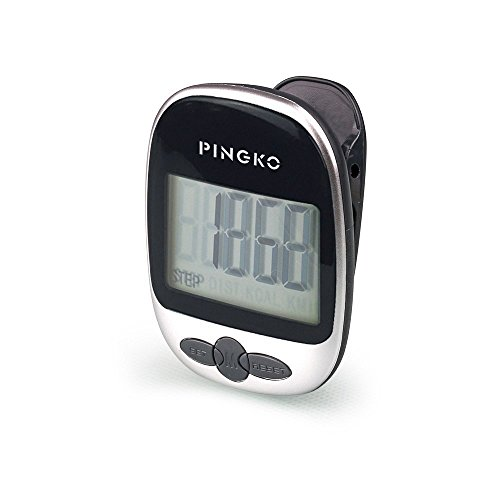 Pingko Walking Pedometer Accurately Track Steps Portable Sport Pedometer...