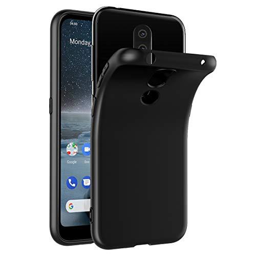VGUARD Hülle Hülle Kompatibel für Nokia 4.2, Premium Schwarz Tasche Schutzhülle Weiche TPU Silikon Gel Schutzhülle Hülle Cover für Nokia 4.2