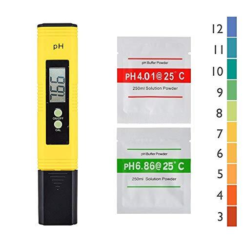 Joody PH Tester Misuratore Digitale, PH Metro Misuratore Digitale Portatile con LCD misuratore Digitale Gamma 0.00-14.00 Penna PH Piaccametro Tascabile per acquari, Piscine, Acqua,Auto Calibrazione