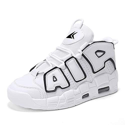 IDE Play Hommes Femmes Chaussures de Course Sport Formateurs Sneakers pour Absorber Les Chocs de Marche Gym Jogging Fitness Casual Athletic,Whiteblack,39
