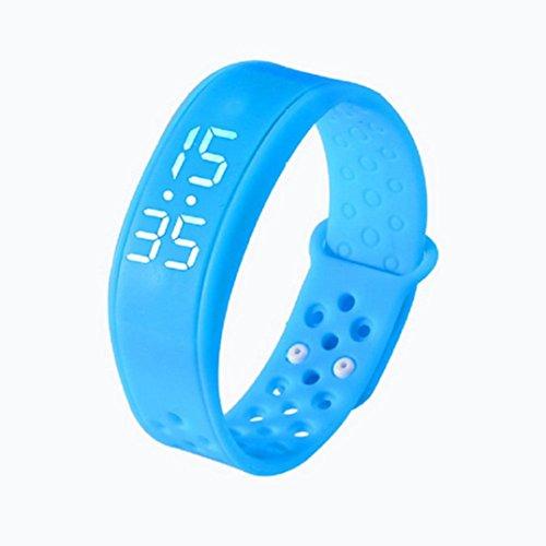 Hunpta Kinderaktivität Verfolger Kinder Schrittzähler Step Counter Fitness Band (Blau)
