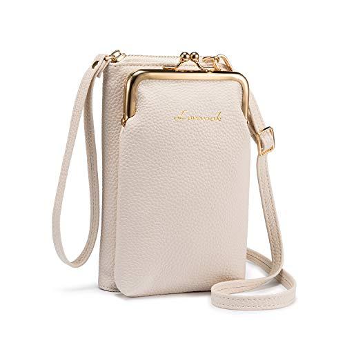 LOVEVOOK Funda para teléfono móvil mujer, bolso de hombro pequeño, con monedero, cruzado tarjetero piel iPhone menos 6,5 pulgadas, color, talla 4.3x7.1x1.9in/11x18x5cm