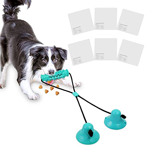 Juguete masticable para Perros, Juguete Multifuncional para mordeduras de molares con Ventosa, Juguetes para Perros pequeños y medianos Grandes, Juguete Interactivo para Perros(Azul)