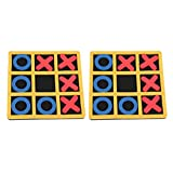 Toyvian Tic Tac Toe Spiel Spielzeug Ochsen Schach Pädagogisches Spielzeug Parteibevorzugungs-Feriengeschenk für Eltern Scherzt Kinder 2Pcs -