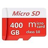 Tarjeta Micro SD de 128 GB, 400 GB, 512 GB, 1024 GB, tarjeta Micro SD clase 10, alta velocidad SDXC con adaptador gratis (400GB-1)