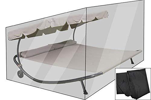 OUTFLEXX Premium Abdeckhaube für Leco Doppelliege, schwarz, wasserbeständig, 212 x 212 x 117 cm