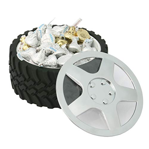 Product Image 6: WRENCHWARE – Knobby Tread Rubberized Tire Bowl used by Gearheads, NASCAR Fans, Mechanics, Motorheads, Car Engineers, and that Munchkin in your life. Pistachio Bowl, Popcorn Bowl, Pretzel Bowl.