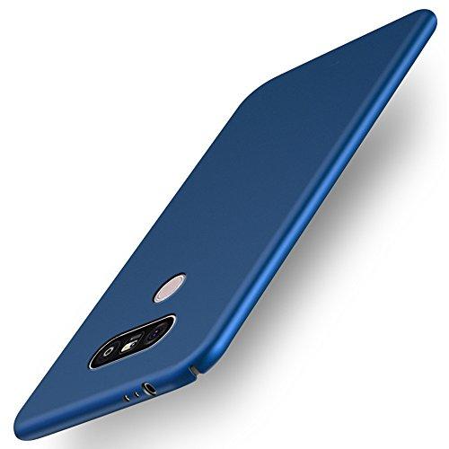 INSOLKIDON Compatible con LG G6 Funda PC Cáscara Dura Ultrafino Simple Teléfono Protector Cáscara Proteccion Cubierta Protectora (Azul)
