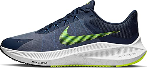 Nike Winflo 8, Zapatillas para Correr Hombre, Midnight Navy Volt White Hyper Royal, 42 EU