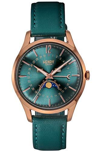 [ヘンリーロンドン] 腕時計 STRATFORD HL39-LS-0380 正規輸入品 グリーン