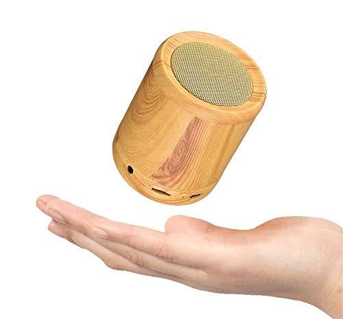 XFSE Reise-Strand-hölzerne tragbare drahtlose Bluetooth-Sprecher-Minisubwoofer-Ausgangsgeschenk-Dekoration (Color : Yellow)