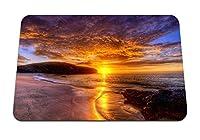22cmx18cm マウスパッド (海岸の砂雲は静けさを低下させます) パターンカスタムの マウスパッド