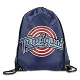 Etryrt Mochilas/Bolsas de Gimnasia,Bolsas de Cuerdas, Tune Squad Logo Drawstring Backpack Gym Bag